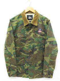 ステューシー STUSSY ジャケット カバーオール カモフラ 買い取りました♪ ジャケット パーカー Tシャツ パンツ キャップ 高価買取 リサイクルショップ リバース 三原 尾道 東広島 買取 換金