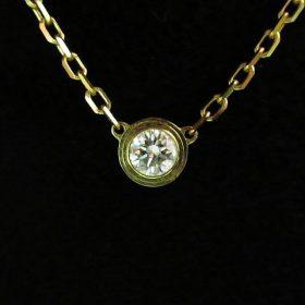 Cartier カルティエ ディアマン レジェ ドゥ K18PG ダイヤ ネックレス 買い取りました♪ ブランド品 貴金属 高価買取 リサイクルショップ リバース 三原 尾道 東広島 買取 換金