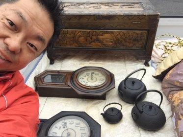 出張買取(生前整理) 壁時計・鉄瓶・工具