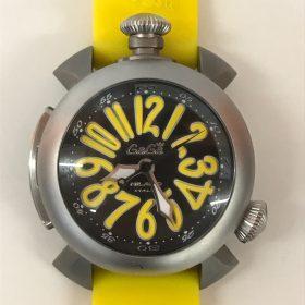 ガガミラノ GaGa MILANO ダイビング 48mm チタン 300m防水 5040.2 ラバーイエロー 自動巻き 腕時計 入荷しました!