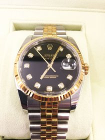 ROLEX 116233G デイトジャスト ブラック 10Pダイヤ 超美品 お買取しました!! OMEGA タグホイヤー フランクミュラー パネライ ガガミラノ 腕時計 強化買取中!!