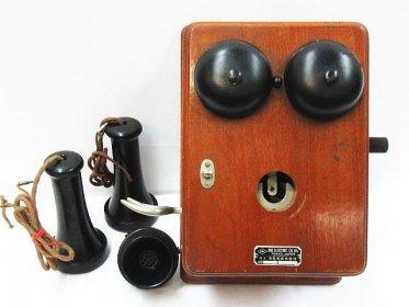 木製 デルビル 壁掛け ハンドル式 電話機 買い取りました!レトロ品買い取ります!