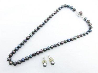 黒真珠 ブラック パール ネックレス シルバー と イヤリング K18WG 買い取りました!