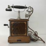 大正時代のデルビル磁石式卓上電話機 Natinal電話機