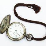 WALTAM ウォルサム 懐中時計 2針 手巻き スモセコ C.W.C.CO. TRADE MARK STERLING
