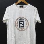 90s FENDI フェンディ サークル ロゴ 半袖 Tシャツ イタリア製 正規品 ヴィンテージ FF ズッカ オフホワイト