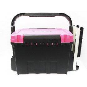 MEIHO メイホー BUCKET MOUTH バケットマウス 両開き タックルBOX ロッドスタンド2本付き ピンク×ブラック