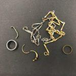 貴金属(金・プラチナ) 切れてるリング 変形リング コイン付きネックレス 片方しかないピアス