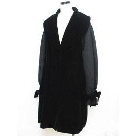 フォクシー FOXEY コート ショールカラー ブラック 冬物