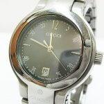 GUCCI グッチ 8900L 腕時計 レディース スイス製 デイト シルバー グレー文字盤 ラウンドフェイス QZ