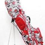 AZROF アズロフ キャディバッグ ユニオンレッド スタンド式 ゴルフバッグ 6分割セパレータ フード付き