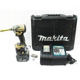 makita マキタ 充電式 インパクトドライバ TD148D 100周年記念モデル 18V 5.0Ah ゴールド 動作良好 充電器 バッテリー×2 ケース付き