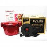 未使用品 SHARP HEALSIO シャープ ヘルシオ ホットクック 電気無水鍋 KN-HT99A-R 2016年製 水なし 自動調理鍋 1.6L レッド