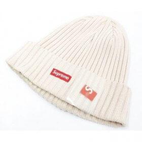 Supreme シュプリーム 17SS Overdyed Ribbed Beanie スモールボックスロゴ ビーニー ニット帽 半タグ付き