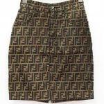 FENDI 80s~90s ヴィンテージ ズッカ柄 FF柄 総柄 台形 スカート